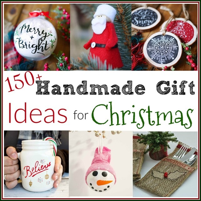 150 Handmade Gift Ideas for Christmas - Get over 150 ideas for handmade gifts that you can make for Christmas. - virginiasweetpea.com