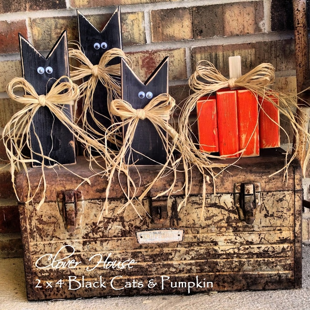 Easy 2x4 Halloween Crafts