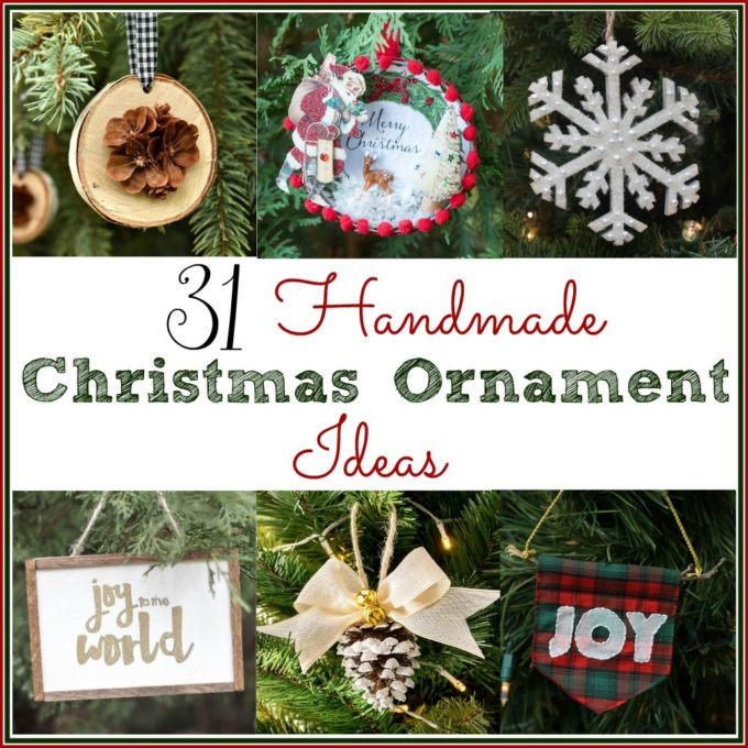 31 Handmade Christmas Ornament Ideas