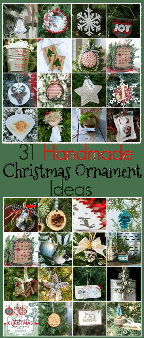 31 Handmade Christmas Ornament Ideas - Get 31 Ideas for Ornaments to Make for Your Christmas Tree. virginiasweetpea.com
