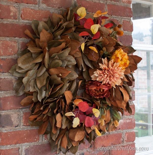Magnolia Wreath for Fall