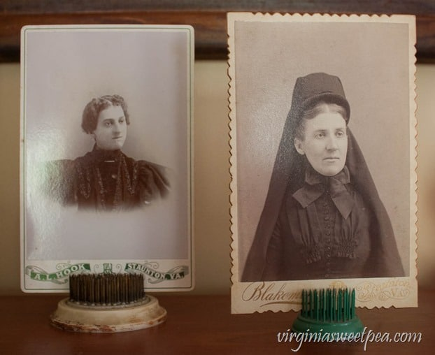 Old Photographs used for Halloween Decor