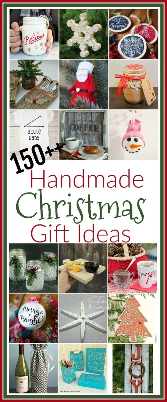 Handmade Christmas Gift Ideas - Get over 150 ideas for gifts that you can make for holiday giving. virginiasweetpea.com