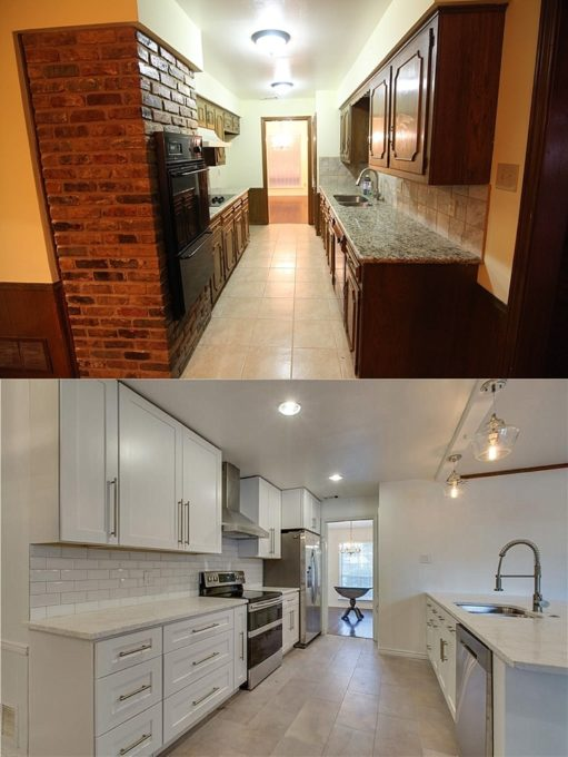 Flip House Kitchen Before and After