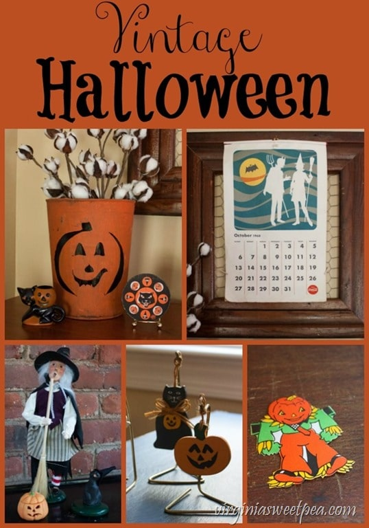 Vintage Halloween Decor - See a collection of vintage Halloween things. virginiasweetpea.com