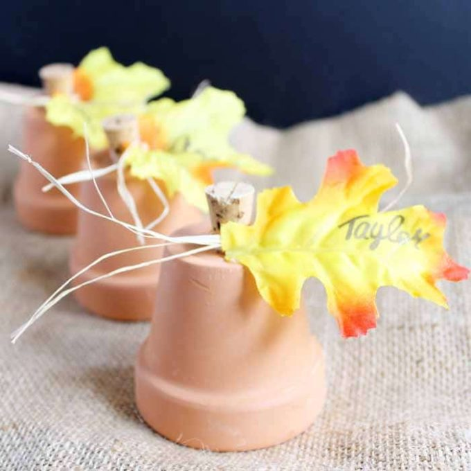 Clay Pot Place Cards for Fall