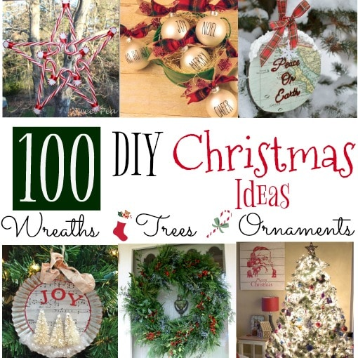 100 DIY Christmas Ideas - Get ideas for wreaths you can make, tree designs to copy, and ornaments to craft for Christmas. virginiasweetpea.com
