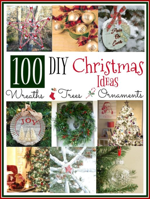 100 DIY Christmas Ideas for Trees, Wreaths, and Ornaments - Get ideas for your Christmas decor. virginiasweetpea.com