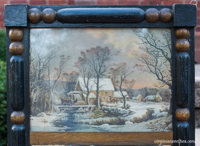 Currier and Ives Mirror - virginiasweetpea.com