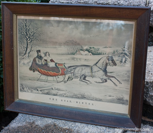"Currier and Ives ""The Road - Winter"" Lithograph - virginiasweetpea.com"