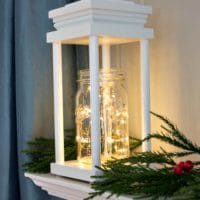 DIY Wood Lanterns for Christmas