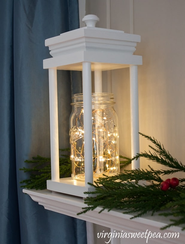 DIY Wood Lantern for Christmas - Get the step-by-step tutorial to make a lantern like this for your home. virginiasweetpea.com