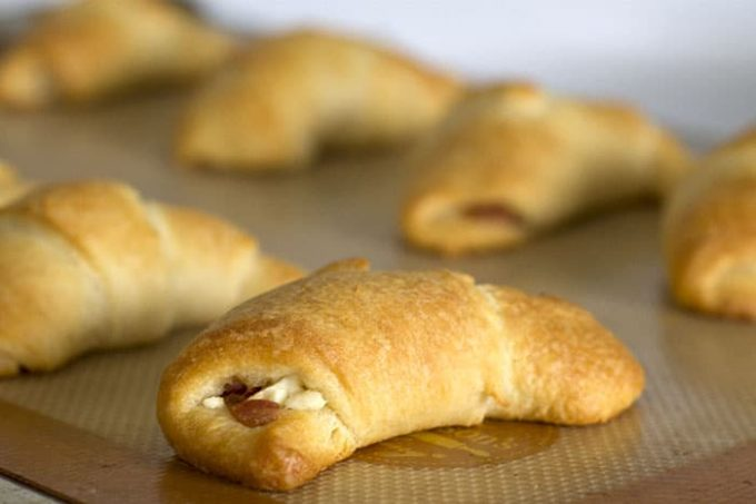 Garlic Bacon Feta Crescents