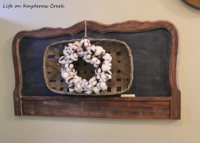 How to Make a Farmhouse Style Chalkboard from an old Headboard
