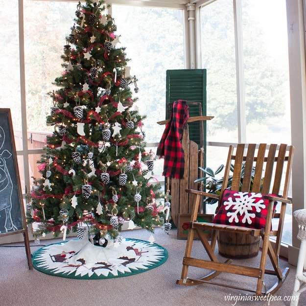 Vintage Style Christmas Porch Decor-virginiasweetpea.com