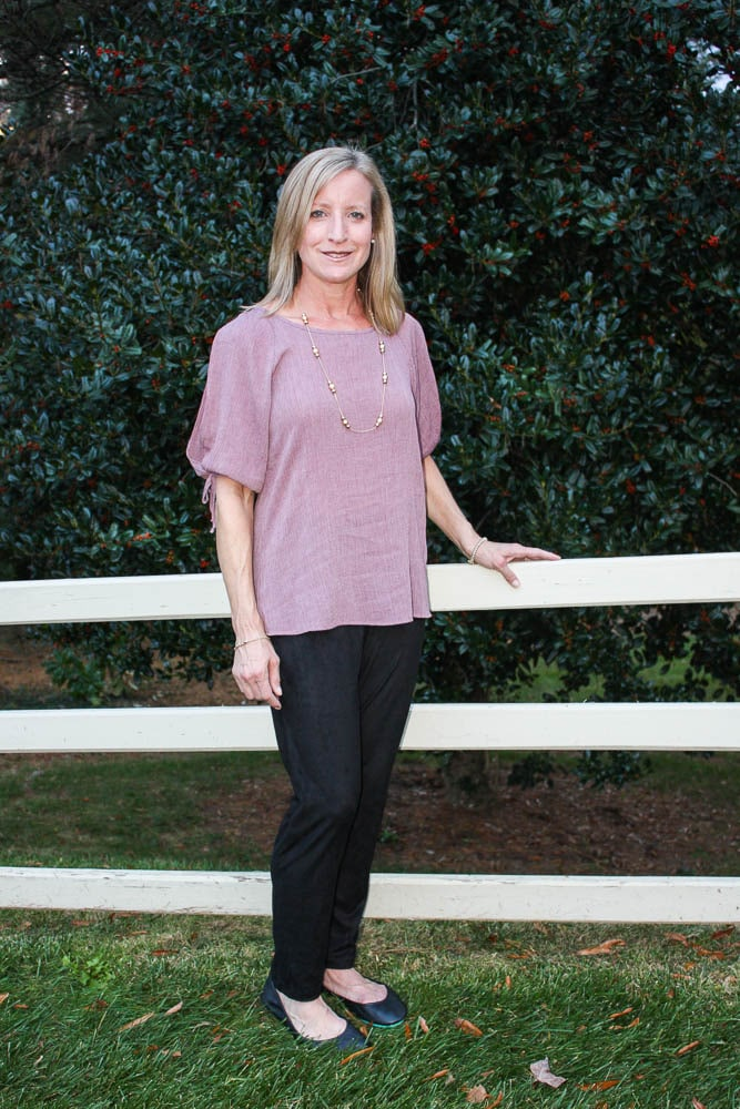 Stitch Fix Review - November 2017 - Kaileigh Georgiana Cold Shoulder Top - virigniasweetpea.com