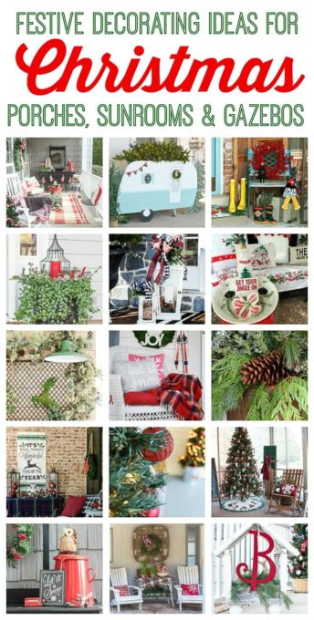 Christmas Porch Tour - Festive ideas for decorating porches for Christmas. virginiasweetpea.com