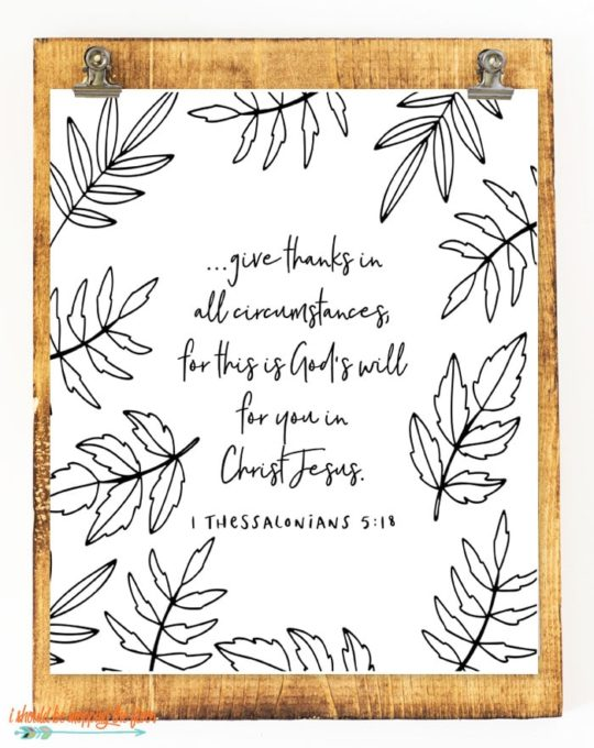 fall scripture printable