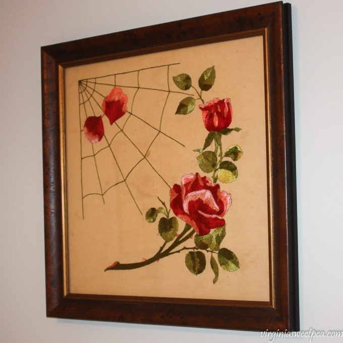 100 Year Old Floral Needlework - virginiasweetpea.com