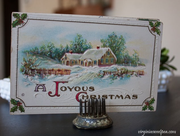 Vintage Christmas Post Card - virginiasweetpea.com