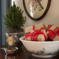 Vintage Inspired Christmas in the Living Room