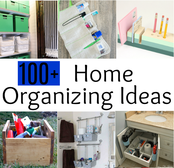 100 Organizing Ideas for the Home - Get ideas for organizing nearly every area of your home. virginiasweetpea.com