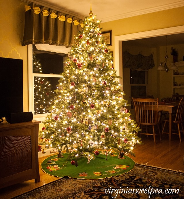 Christmas Tree at Night - virginiasweetpea.com