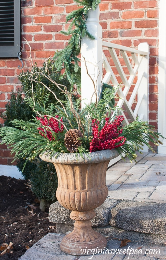Diy christmas outdoor planters sweet pea diy christmas outdoor planters step by step tutorial for making these for your workwithnaturefo