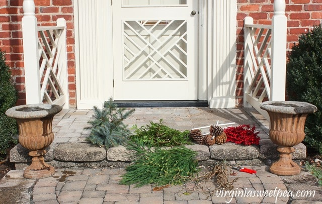 DIY Christmas Outdoor Planters - Supplies Needed