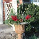 DIY Christmas Outdoor Planters