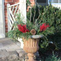 DIY Christmas Outdoor Planters