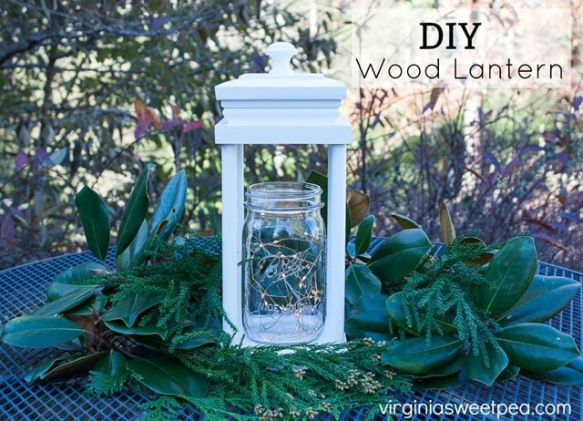 DIY Wood Lantern - Get the step-by-step tutorial to make one for your home. virginiasweetpea.com