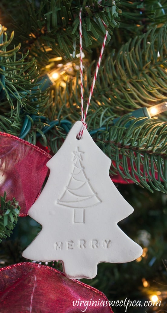How to Make Easy Clay Christmas Ornaments - virginiasweetpea.com