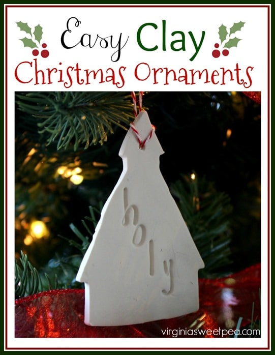 How to Make Easy Clay Christmas Ornaments - Learn how to make these for your tree. - virginiasweetpea.com