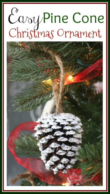 Easy Pine Cone Ornaments