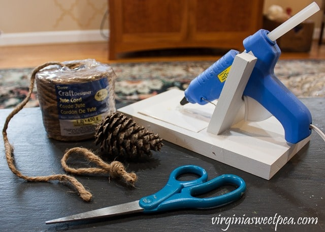 Supplies to Make Pine Cone Christmas Tree Ornaments