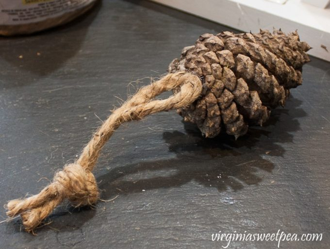 How to Make Pine Cone Christmas Tree Ornaments - virginiasweetpea.com