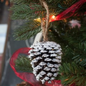 Easy Pine Cone Christmas Ornaments