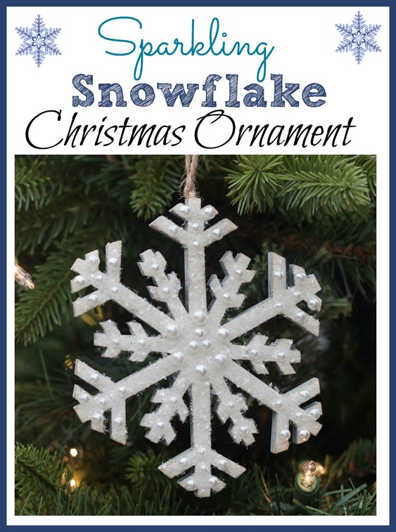 Sparkling Snowflake Christmas Ornament - virginiasweetpea.com