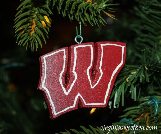 Handmade Wisconsin Ornament - virginiasweetpea.com