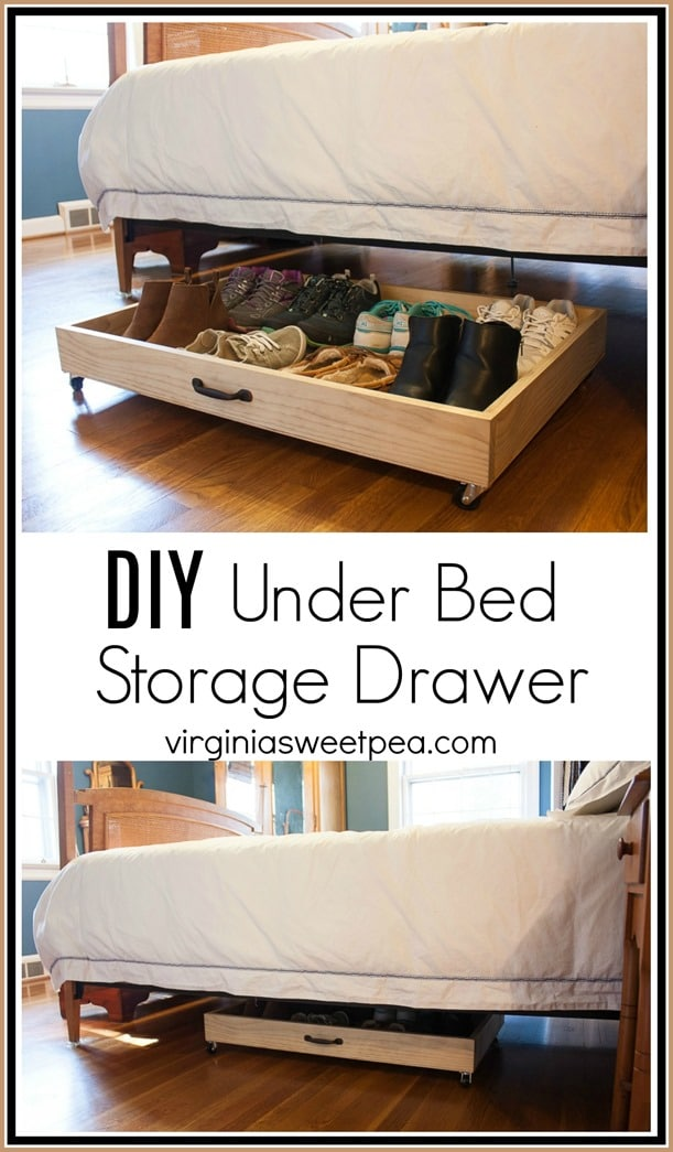 DIY Under Bed Storage Drawer - Utilize the space under your bed with a rolling drawer. This is an easy DIY! Get the step-by-step tutorial. virginiasweetpea.com
