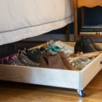 DIY Under Bed Storage Drawer - Make a Drawer with wheels to utilize under bed storage. virginaisweetpea.com