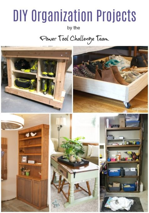 DIY Organization Projects - Get ideas for projects you can build to help to organize  your home.  virginiasweetpea.com  #organize #powertool