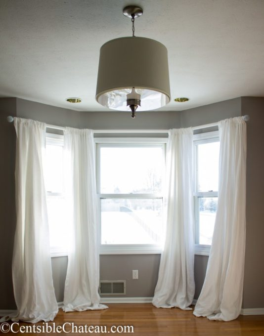 How to Make Bay Window Curtain Rods