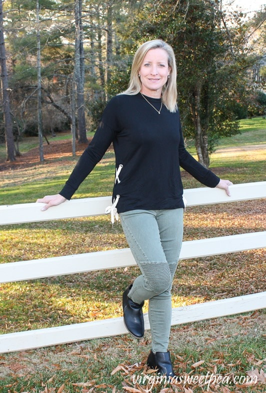 Stitch Fix Review - January 2018 - Pistola Audrey Moto Detail Skinny Pant - virginiasweetpea.com