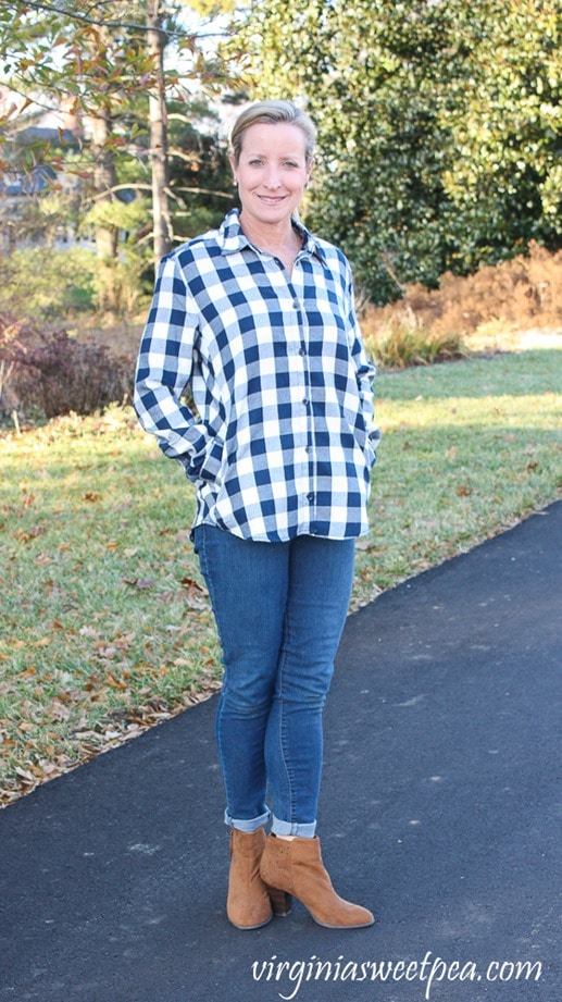 Stitch Fix Review - January 2018 - Statement Agata Pocketed Flannel Shirt - virginiasweetpea.com