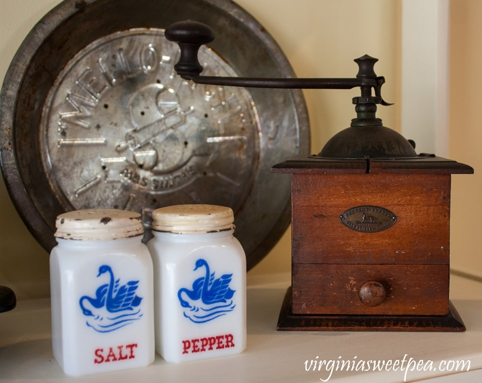 Kitchen Hutch with Vintage Farmhouse Decor - Sweet Pea