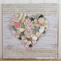 DIY Valentine's Day Button Heart