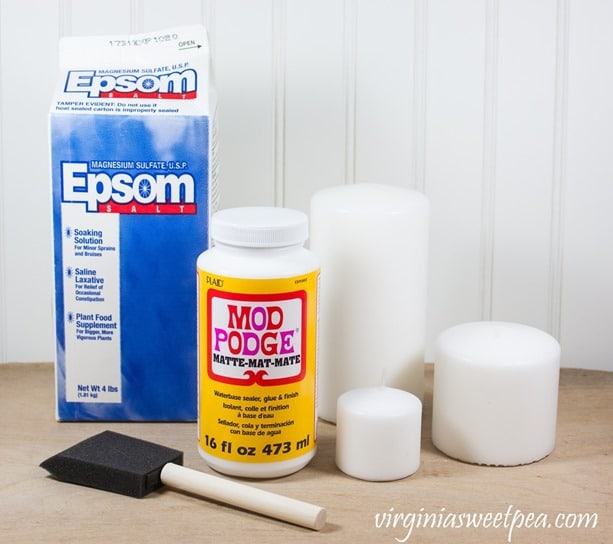 Easy Frosted Candles - Supplies Needed - virginiaasweetpea.com