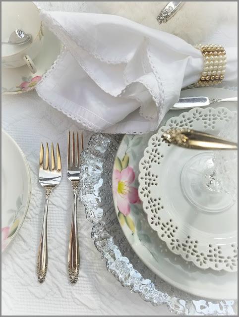 Tablescape Featuring Noritake Azalea Dishes